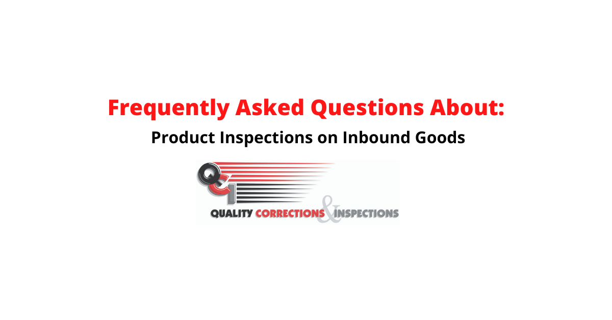 Product Inspections on Inbound Goods