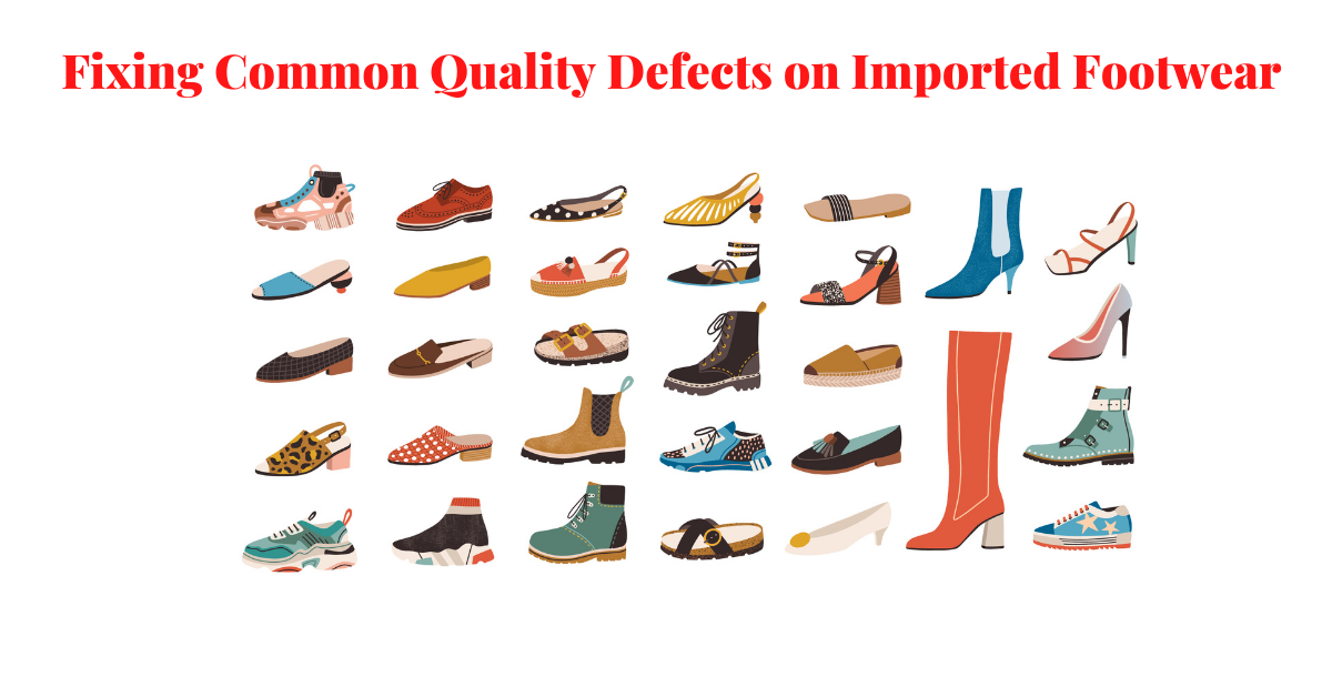Header Image - Fixing Quality Defects on Imported Footwear - Shows different styles of shoes